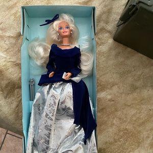 Winter velvet Barbie Avon never been out of box